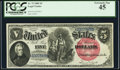 Large Size:Legal Tender Notes, Fr. 75 $5 1880 Legal Tender PCGS Extremely Fine 45.. ...