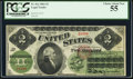 Large Size:Legal Tender Notes, Fr. 41a $2 1862 Legal Tender PCGS Choice About New 55.. ...
