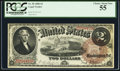 Large Size:Legal Tender Notes, Fr. 50 $2 1880 Legal Tender PCGS Choice About New 55.