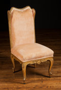 Furniture , A French Louis XVI-Style Slipper Chair, 20th century. 40 h x 18 w x 20 d inches (101.6 x 45.7 x 50.8 cm). ...