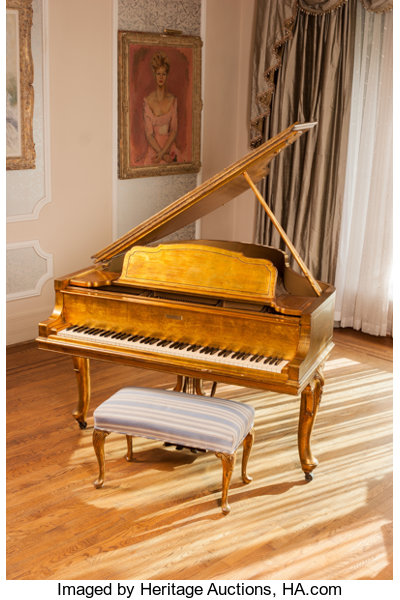 Furniture American A Steinway Model M Grand Piano Used In The Behind Thecandelabra