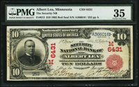 Albert Lea, MN - $10 1902 Red Seal Fr. 613 The Security NB Ch. # (M)6431