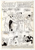 "Original Comic Art:Complete Story, Stan Goldberg Chili #11 Complete 5-Page Story ""Her GroovyGuitar"" Original Art (Marvel, 1970).... (Total: 5 Original Art)"