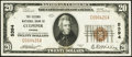 National Bank Notes:Virginia, Culpeper, VA - $20 1929 Ty. 1 The Second NB Ch. # 5394. ...