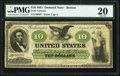 Large Size:Demand Notes, Fr. 8 $10 1861 Demand Note PMG Very Fine 20.. ...