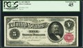 Large Size:Silver Certificates, Fr. 265 $5 1886 Silver Certificate PCGS Extremely Fine 45.. ...