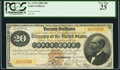 Large Size:Gold Certificates, Fr. 1175a $20 1882 Gold Certificate PCGS Very Fine 25.. ...