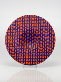 Klaus Moje (German, b. 1936) Panel #29, 1985 Fused and slumped glass 2-1/4 inches high x 16-1/2 i
