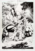 Original Comic Art:Splash Pages, Fernando Pasarin and Jack Purcell Justice Society of AmericaKingdom Come Special: The Kingdom #1 Splash Page 20 O...