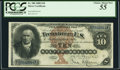 Large Size:Silver Certificates, Fr. 288 $10 1880 Silver Certificate PCGS Choice About New 55.. ...