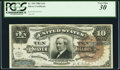 Large Size, Fr. 296 $10 1886 Silver Certificate PCGS Very Fine 30.. ...