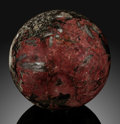 Lapidary Art:Eggs and Spheres, Eudialyte Sphere. Stone Source: Canada. ...