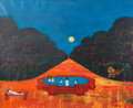 Fine Art - Painting, American:Contemporary   (1950 to present)  , Nicola Ortis Poucette (French 1935-2006). Nocturnal Swim,1962. Oil on canvas. 39 x 47 inches (99 x 119.3 cm) (sight). S...