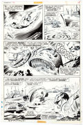 Original Comic Art:Panel Pages, Marie Severin and Jim Mooney Sub-Mariner #44 Story Page 11Original Art (Marvel Comics, 1971)....
