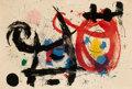 Fine Art - Work on Paper:Print, Joan Miró (1893-1983). Le Cheval Ivre, 1964. Lithograph incolors on wove paper. 24 x 35-1/2 inches (61.0 x 90.2 cm) (sh...