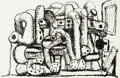 Fine Art - Work on Paper:Print, Philip Guston (1913-1980). Pile Up, 1981. Lithograph onBarcham Green Crisbrook paper. 19-3/4 x 29-7/8 inches (50.2 x 75...
