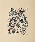 Fine Art - Work on Paper:Print, Jean Dubuffet (1901-1985). Parade Nuptiale (Courtship),1973. Screenprint in colors on tan Canson paper, with full margi...