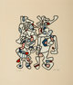 Jean Dubuffet (1901-1985) Parade Nuptiale (Courtship), 1973 Screenprint in colors on tan Canson paper, with full margi...