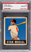 Baseball Cards:Singles (1940-1949), 1948 Leaf Stan Musial #4 PSA NM-MT 8....