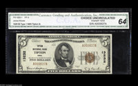 Tipton, IA - $5 1929 Ty. 1 Tipton NB Ch. # 13232 Small notes only from this scarce Tipton bank, with this the sole exam...