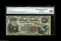 National Bank Notes:Kentucky, Bowling Green, KY - $10 1882 Brown Back Fr. 490 The Citizens NB Ch.# (S)5900 A beautifully centered pen signed Brown B...