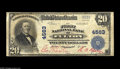 National Bank Notes:Kentucky, Fulton, KY - $20 1902 Plain Back Fr. 653 The First NB Ch. # 4563 Anextremely rare bank where the census reports just t...