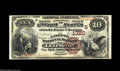 National Bank Notes:Kentucky, Lexington, KY - $10 1882 Brown Back Fr. 484 The Fayette NB Ch.#(S)1720 Although 28 large size notes are recorded in th...