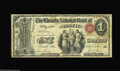 National Bank Notes:Maine, Bath, ME - $1 Original Fr. 380 The Lincoln NB Ch. # 761 An attractive and well margined ace, with this piece bearing th...
