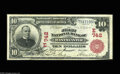 National Bank Notes:Maryland, Westminster, MD - $10 1902 Red Seal Fr. 613 The First NB Ch. #(E)742 A lovely note which is the only Red Seal known fr...