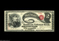 National Bank Notes:Missouri, California, MO - $2 Original Fr. 389 The Moniteau NB Ch. # 1712 Alovely Lazy Deuce with great color and eye appeal. Th...