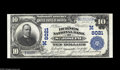 National Bank Notes:Missouri, Saint Joseph, MO - $10 1902 Plain Back Fr. 625 The Burnes NB Ch. #(M)8021 While hardly a rare bank, notes in this stat...