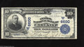 National Bank Notes:Nebraska, Kearney, NE - $10 1902 Plain Back Fr. 624 The Central NB Ch. # (W)6600 Large notes only from this rare Kearney bank, wi...