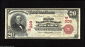 National Bank Notes:Nebraska, Omaha, NE - $20 1902 Red Seal Fr. 639 The First NB Ch. # (W)209 Although one of Nebraska's largest banks, notes from he...