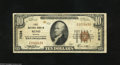 National Bank Notes:Nevada, Reno, NV - $10 1929 Ty. 1 First NB Ch. # 7038 This bank issued under two titles, with all of its 1929 emissions coming...