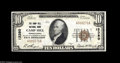 National Bank Notes:Pennsylvania, Camp Hill, PA - $10 1929 Ty. 1 The Camp Hill NB Ch. # 12380 Avibrant and snappy Extremely Fine from the sole issue...