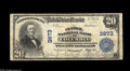 National Bank Notes:Pennsylvania, Columbia, PA - $20 1902 Plain Back Fr. 652 The Central NB Ch. #3873 A solid Fine+ $20 Plain Back from the only b...