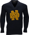 Football Collectibles:Uniforms, Circa 1927 Jerry Ransavage Owned & Worn Notre Dame Fighting Irish Sweater. . ...