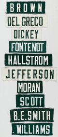 Football Collectibles:Uniforms, Green Bay Packers Nameplate Lot of 10, with Lynn Dickey and John Jefferson. ...