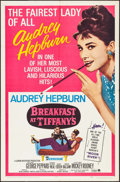 "Movie Posters:Romance, Breakfast at Tiffany's (Paramount, R-1965). One Sheet (27"" X 41"").Romance.. ..."