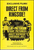 """Movie Posters:Sports, Clay Vs. Patterson (Allied Artists, 1965). One Sheet (27"""" X 41""""). Sports.. ..."""