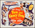 """Movie Posters:Animation, Fun and Fancy Free (RKO, 1947). Half Sheet (22"""" X 28"""") Style A. Animation.. ..."""