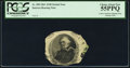 Fr. 208 $100 Center Vignette Clipping from a Genuine Note 1861 Interest Bearing Note PCGS Choice About New 55PPQ