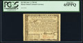 Colonial Notes:Rhode Island, Rhode Island July 2, 1780 $8 PCGS Gem New 65PPQ.. ...