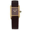 Estate Jewelry:Watches, Cartier Lady's Silver Must De Cartier Watch, French. ...