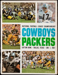 Football Collectibles:Programs, 1966 NFL Championship Game Program - Packers Vs. Cowboys. ...