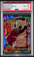 Basketball Cards:Singles (1980-Now), 1993 Finest Michael Jordan (Refractor) #1 PSA NM-MT 8. . ...