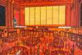 Fine Art - Painting, American:Contemporary   (1950 to present)  , Nicola Ortis Poucette (French,1935-2006) . New York StockExchange, 1963. Oil on canvas. 40 x 59 inches (101.5 x 150cm)...