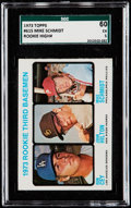 Baseball Cards:Singles (1970-Now), 1973 Topps Mike Schmidt/Ron Cey - Rookie 3rd Basemen #615 SGC 60 EX5....