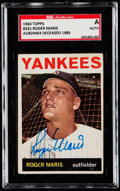 Autographs:Sports Cards, Signed 1964 Topps Roger Maris #225 SGC Authentic. ...