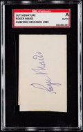 Autographs:Others, Signed Roger Maris Cut SGC Authentic....